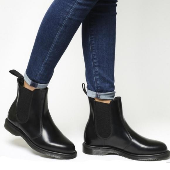 Dr Martens Flora Black Chelsea Boot